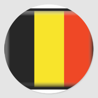 Belgium Flag Round Sticker