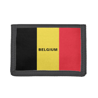 Belgium Flag TriFold Nylon Wallet