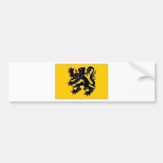 Belgium Flemish Region Flag Bumper Sticker