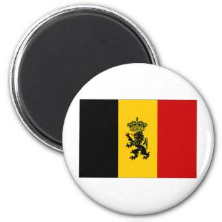 Belgium Government Ensign Flag 6 Cm Round Magnet