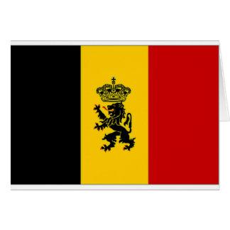 Belgium Government Ensign Flag Card