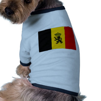 Belgium Government Ensign Flag Dog Tee