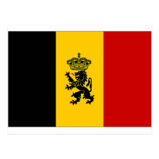 Belgium Government Ensign Flag Postcard