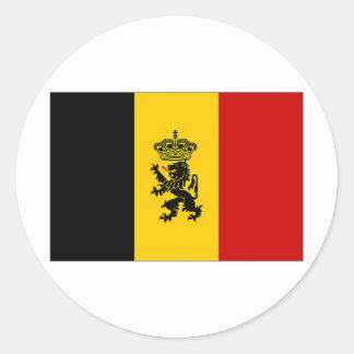 Belgium Government Ensign Flag Round Sticker