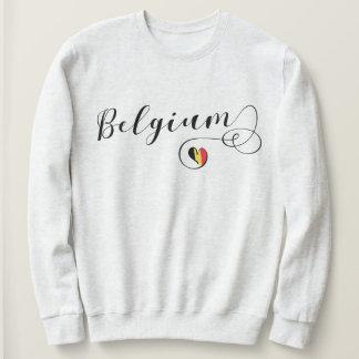 Belgium Heart Sweatshirt, Belgian Flag Sweatshirt