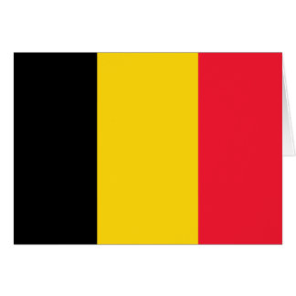 Belgium High quality Flag Card