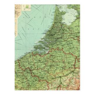 Belgium & Holland Postcard