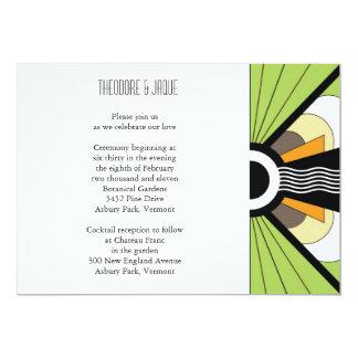 Belgium Invite: Lime 13 Cm X 18 Cm Invitation Card