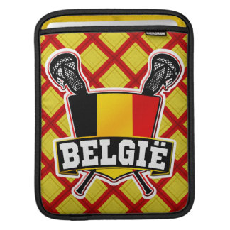 Belgium Lacrosse Flag Cover Sleeves For iPads