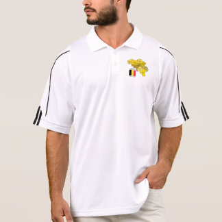 Belgium Map and Flag Polo T-shirts