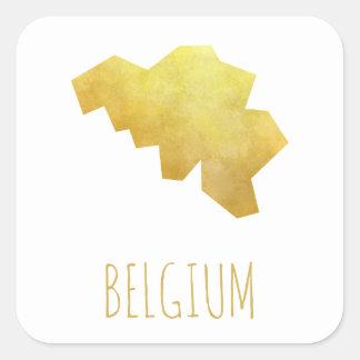 Belgium Map Square Sticker