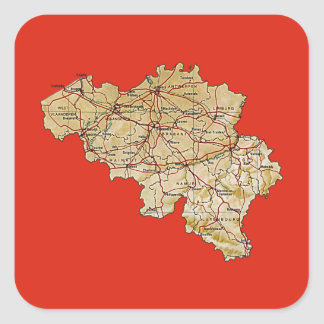 Belgium Map Sticker