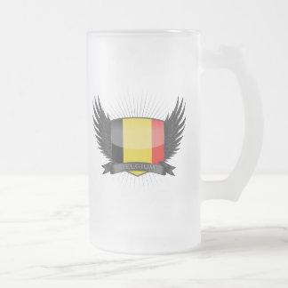 BELGIUM FROSTED GLASS MUG