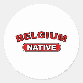 Belgium Native Classic Round Sticker