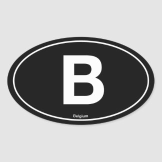 Belgium Oval Oval Sticker