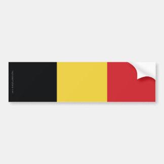 Belgium Plain Flag Bumper Sticker