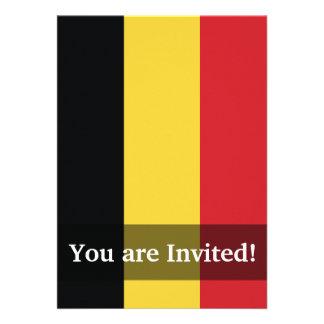Belgium Plain Flag Invite