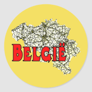 Belgium Round Sticker