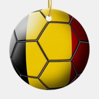 Belgium Soccer Ornament