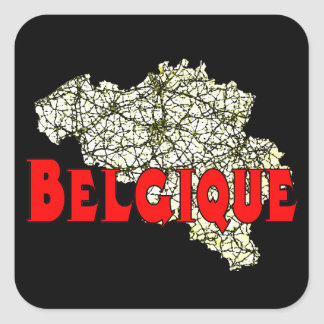 Belgium Square Sticker