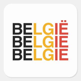 BELGIUM SQUARE STICKER