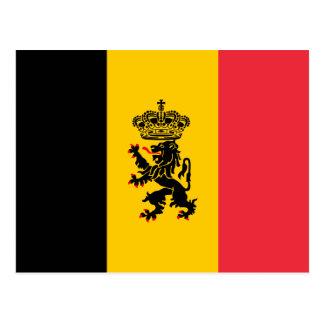 Belgium State Flag Postcard