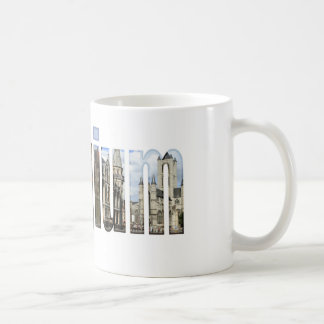 Belgium tourist attractions in letters coffee mug