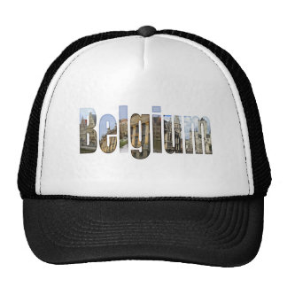 Belgium tourist attractions in letters hats