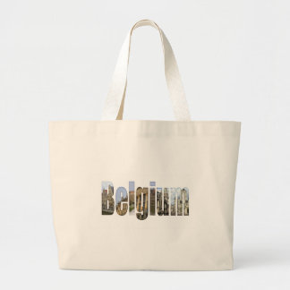 Belgium tourist attractions in letters jumbo tote bag