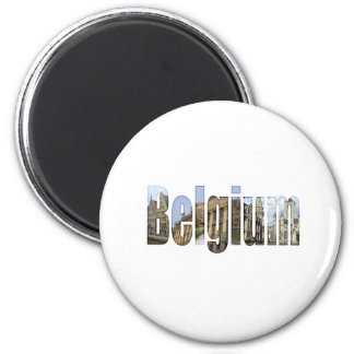 Belgium tourist attractions in letters magnet