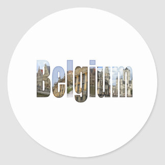 Belgium tourist attractions in letters stickers