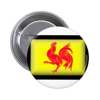 Belgium-Walloon Flag Button