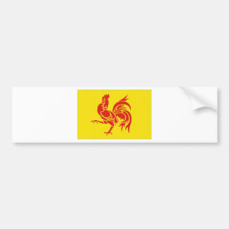 Belgium Walloon Region Flag Car Bumper Sticker