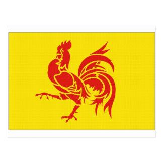Belgium Walloon Region Flag Postcards