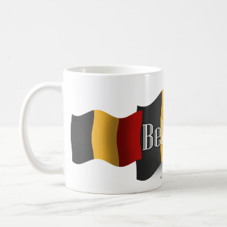 Belgium Waving Flag Coffee Mug
