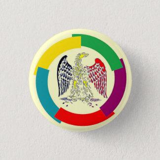 Belgium without borders 3 cm round badge