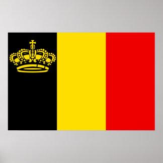 Belgium Yacht Ensign Belgium Posters