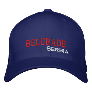 Belgrade City Serbia Embroidered Hat