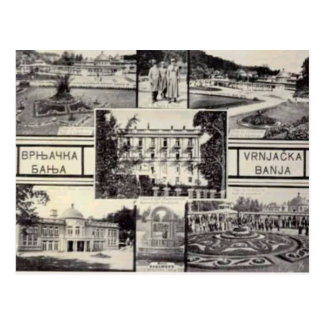 Belgrade, Serbia, multiview card, c. 1950 Postcard