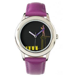 Belgrade Serbia Neon Colors Pop Art Vibrant Modern Watch