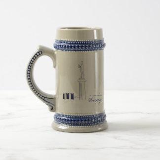 Belgrade Serbia Nostalgic Classy Elegant Sketch Beer Stein