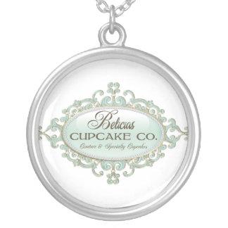 Belicia's Cupcake logo necklace