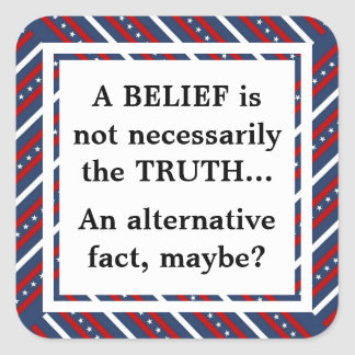 Belief and Truth Square Sticker
