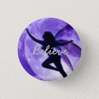 Believe 3 Cm Round Badge