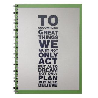 believe act notebook