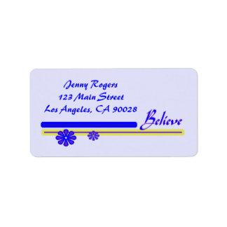 Believe Address Label