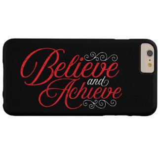 Believe and Achieve Black iPhone 6 Plus Case