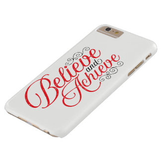 Believe and Achieve White iPhone 6 Plus Case