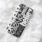 Believe; Black & Dark Grey Stripes Barely There iPhone 6 Case