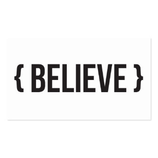 Believe - Bracketed - Black and White Double-Sided Standard Business Cards (Pack Of 100)